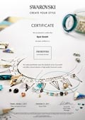 Swarovski Elements Create your Style Certificate