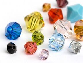 Glass Beads of Swarovski Elements Bicone (Color Multi Size Mix)