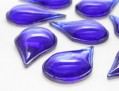 Cabochons | Glass nuggets | Gemstones | Drop, 21.0x35.0mm, Capri Blue