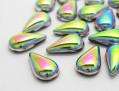 Cabochons | Glass nuggets | Gemstones | Drop,  8.0x13.0mm, Oro-AB