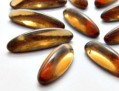 Cabochons | Glass nuggets | Gemstones | Oval,  5.0x16.0mm, Light Smoked Topaz