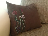 "Pillow Rhinestone embellishment ""Flowers"""