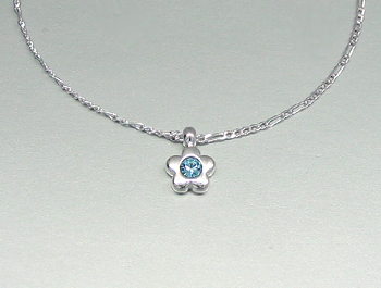 Necklace with Pendant (Light Sapphire)