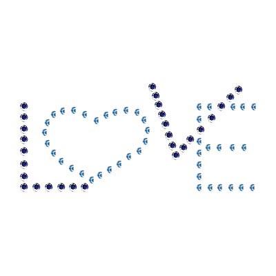 Crystal Rivets Hotfix Transfer of Unique (Love Classic)