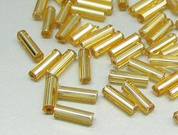 Rocailles und Stifte zum Auffädeln und Aufnähen | 2.0mm x 6.0mm, Topaz
