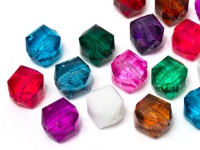 Acrylic Beads of Star Bright | Cubist, 16.0 x 18.0mm, Colormix
