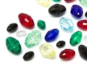 Acrylic Beads of Star Bright | Oval,  5.0 - 18.0mm, Color Multi Size Mix