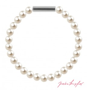 "Armband ""Perlenarmband Mini"" Cream Pearl, made with Swarovski Elements"