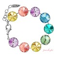 "Armband ""Rivoli"" Large Multi Pastell, made with Swarovski Elements"