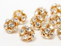 "Beads of Swarovski Elements ""Fancy Ball"" 8.0mm (Crystal/gold plated)"