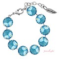 "Bracelet ""Rivoli"" Large Aquamarine, with original Swarovski Elements Crystals"
