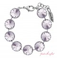 "Bracelet ""Rivoli"" Large Smoky Mauve, with original Swarovski Elements Crystals"