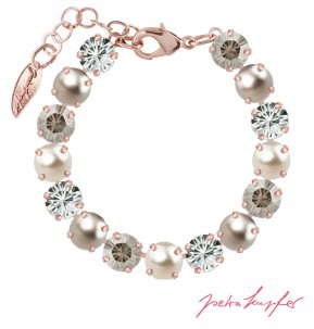 "Bracelet ""Rosi"" Medium Silver Shade Mix, with original Swarovski Elements Crystals"