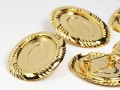 Brooches plate 28x35mm (gold)
