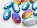 Cabochons | Glass nuggets | Gemstones | Oval,  9.0x18.0mm, Colormix Exclusive, Second Quality