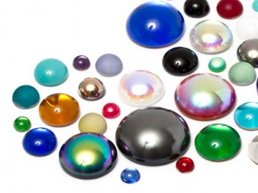 Cabochons | Glass nuggets | Gemstones | Round,  3.0-18.0mm, Color Multi Size Mix