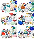 Cabochons | Verre nuggets | Pierres de gemme |  4.0-20.0mm, Mega Multi Form Mix