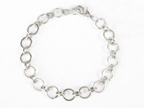 "Charms Bracelet ""Round"" 20cm silvered"