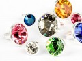 Chaton-Nieten von Swarovski Elements  (Color Multi Size Mix, Silber) - 4mm Schaft
