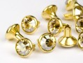 Chaton-Nieten von Swarovski Elements SS34  (Crystal-Golden Shadow, Gold) - 4mm Schaft