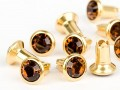 Chaton-Nieten von Swarovski Elements SS34 (Smoked Topaz, Gold) - 4mm Schaft