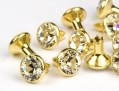 Chaton Rivets of Swarovski Elements  SS18  (Crystal, Gold) - 4mm Shank