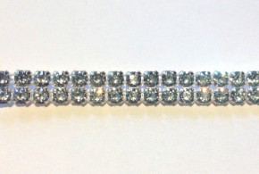 Crystal Bandings of Swarovski Elements PP24 - 2 Rows (silver/Crystal), REMAINING STOCK