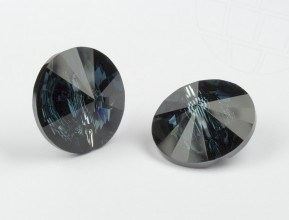 Crystal button of Swarovski Elements round  14mm (Montana, REMAINING STOCK)
