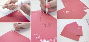 "Do it Yourself Set | DIY Handcraft Set ""Invitation Cards"" for school enrollment from gogoritas® made with Swarovski Elements"