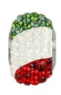"European Glass Beads of Swarovski Elements ""BeCharmed"" 14mm (Italy flag, Stainless steel)"