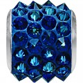 "European Glass Beads of Swarovski Elements ""BeCharmed Pave"" 11.5mm (Crystal-Bermuda Blue, Stainless steel)"