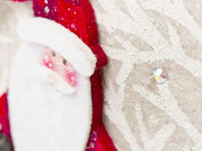 Felt bag for Christmas and Santa Claus from gogoritas® made with Swarovski Elements