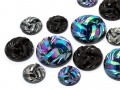 Gemstones | Rhinestones | 13.0-22.0mm, Bend, Jet-AB-Hematite Multi Size Mix