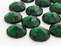 Gemstones | Rhinestones | 15.0mm, Round, Smoked Emerald-Mix