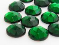Gemstones | Rhinestones | 18.0mm, Round, Smoked Emerald-Mix