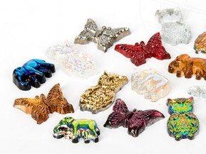 Gemstones  7x15mm Elephant /  Butterfly / Owl (Multi Form Color Mix)