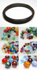 Glass Beads | Plastic Beads | Myrtle wire 4-20mm Color Multi Form Size Mix