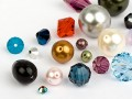 Glass Beads of Swarovski Elements  (Multi Form Mix) Remaining Stock