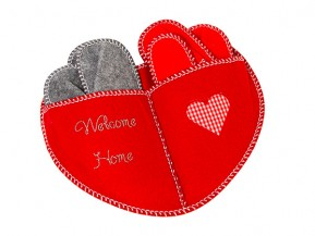 "Guests Slipper Set felt ""Welcome Home"" from gogoritas® made with Swarovski Elements, Crystal Silver Shade"