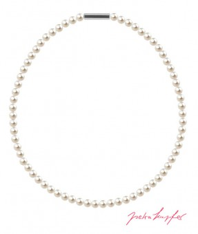 "Halskette ""Perlenkette Mini"" Cream Pearl, made with Swarovski Elements"