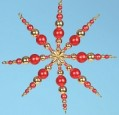 "Handicraft-Set ""Christmas Star"", red-gold"