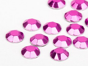 Hotfix Aluminum Rhinestuds of Unique  2mm (Pink), REMAINING STOCK
