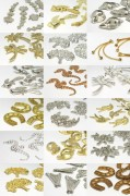 "Jewel component ""Multi Size Mix"" 2-43mm (gold/silver)"