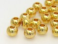 Metal Beads |  Round |  4.0mm, gold
