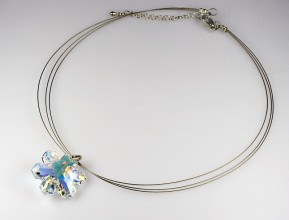 "Necklace ""Ice Crystal"" with original Swarovski Elements pendant"