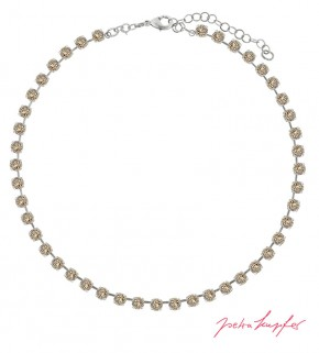 "Necklace """"Klassik"" Light Silk, with original Swarovski Elements Crystals"