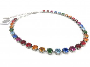 "Necklace  ""Multicolor"" with original Swarovski Elements Crystals"