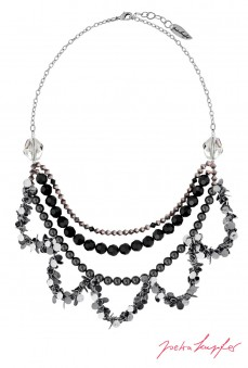 "Necklace ""Oslo Nights Statement"" , with original Swarovski Elements Crystals"