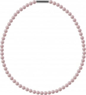 "Necklace ""Pearl Necklace Mini"" Pastel Rose Pearl, with original Swarovski Elements Crystals"