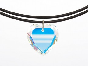 "Necklace Universal with an original Swarovski Elements ""Heart"" pendant (Crystal-AB)"
